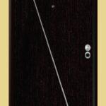 Puerta-Blindada-Línea-Aluminio-Wengué-Modelo-Brindisi