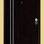 Puerta-Blindada-Línea-Aluminio-Wengué-Modelo-Lecce