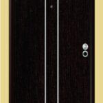 Puerta-Blindada-Línea-Aluminio-Wengué-Modelo-Potenza
